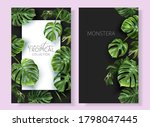 vector tropical banners with... | Shutterstock .eps vector #1798047445