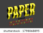 paper craft style font ... | Shutterstock .eps vector #1798068895
