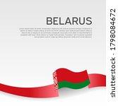 belarus flag background. wavy... | Shutterstock .eps vector #1798084672
