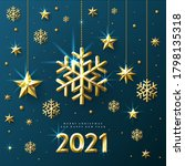 new year greeting card with... | Shutterstock .eps vector #1798135318