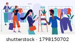 shopping mall sales vector... | Shutterstock .eps vector #1798150702