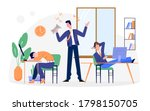 Lazy Business People Vector...