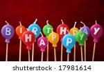 happy birthday candles | Shutterstock . vector #17981614