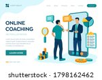 coaching and mentoring concept. ... | Shutterstock .eps vector #1798162462