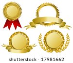 gold award ribbons | Shutterstock .eps vector #17981662