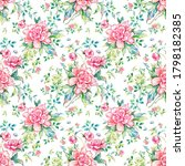 stylish floral seamless rapport ...   Shutterstock . vector #1798182385
