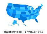 states of america territory.... | Shutterstock .eps vector #1798184992
