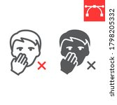 do not touch your face line and ...   Shutterstock .eps vector #1798205332