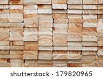 Stack Of Square Wood Planks For ...
