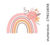 floral rainbow illustration... | Shutterstock . vector #1798218058