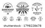barbershop vector logo set. set ... | Shutterstock .eps vector #1798228678
