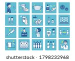 set of corona virus safety... | Shutterstock .eps vector #1798232968