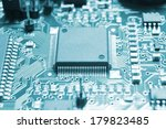 close up of electronic circuit... | Shutterstock . vector #179823485
