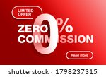 0 percents red banner   limited ... | Shutterstock .eps vector #1798237315