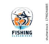 marlin fish logo.sword fish... | Shutterstock .eps vector #1798246885