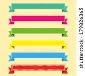 vector set of ribbons for... | Shutterstock .eps vector #179826365