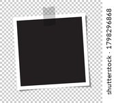 empty photo with a shadow is...   Shutterstock .eps vector #1798296868