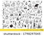 vector illustration of doodle...   Shutterstock .eps vector #1798297045