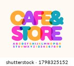 vector stylish sign cafe store. ... | Shutterstock .eps vector #1798325152