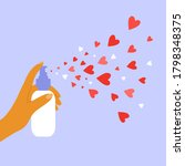 aerosol with hearts. giving and ... | Shutterstock .eps vector #1798348375