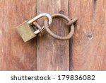 close up old wooden door  which ...   Shutterstock . vector #179836082