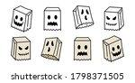 ghost vector spooky icon... | Shutterstock .eps vector #1798371505