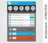 flat mobile ui design. concept...