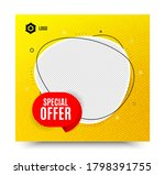 special offer badge. yellow... | Shutterstock .eps vector #1798391755