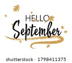 hello september autumn seasonal ... | Shutterstock .eps vector #1798411375