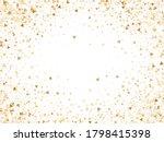 Gold Glitter Triangles Confetti ...