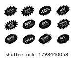 starburst sticker set for promo ... | Shutterstock .eps vector #1798440058