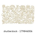 decorative floral composition | Shutterstock .eps vector #179846006