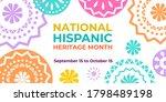 hispanic heritage month. vector ... | Shutterstock .eps vector #1798489198