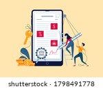 mortgage online concept.... | Shutterstock .eps vector #1798491778
