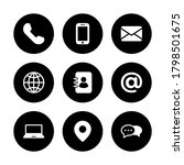 communication icon set  symbol... | Shutterstock .eps vector #1798501675
