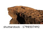 Rocky Cliff Isolated On White...
