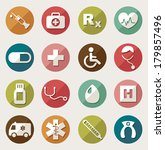 medical icons  | Shutterstock .eps vector #179857496