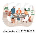 group of students studying... | Shutterstock .eps vector #1798590652