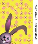 easter rabbit on colorful... | Shutterstock . vector #179859242