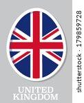 sticker flag of united kingdom... | Shutterstock .eps vector #179859728