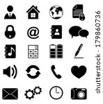 media and communication icons | Shutterstock .eps vector #179860736