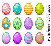 colorful easter egg collection | Shutterstock .eps vector #179862902