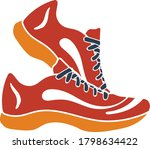 icon of fitness sneakers. flat...