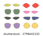 matrix trendy sunglasses.... | Shutterstock .eps vector #1798642132