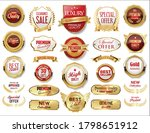 retro vintage gold and red... | Shutterstock . vector #1798651912