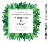 invitation tropical leaves ... | Shutterstock .eps vector #1798682932