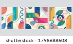 abstract background set with... | Shutterstock . vector #1798688608