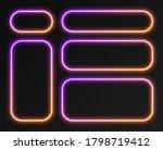 neon gradient frames set ... | Shutterstock .eps vector #1798719412