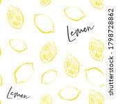 citrus fruit seamless pattern... | Shutterstock .eps vector #1798728862