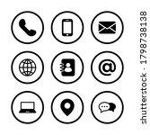 communication icon set  symbol... | Shutterstock .eps vector #1798738138